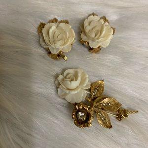 Vintage BSK Jewelry Set